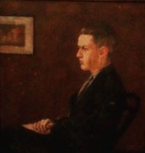 Gladstone_Retrato do Bardo (Gladstone Deane) Óleo sobre tela by Calim (Leônidas Deane)
